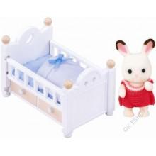 Nábytek - baby králík v postýlce